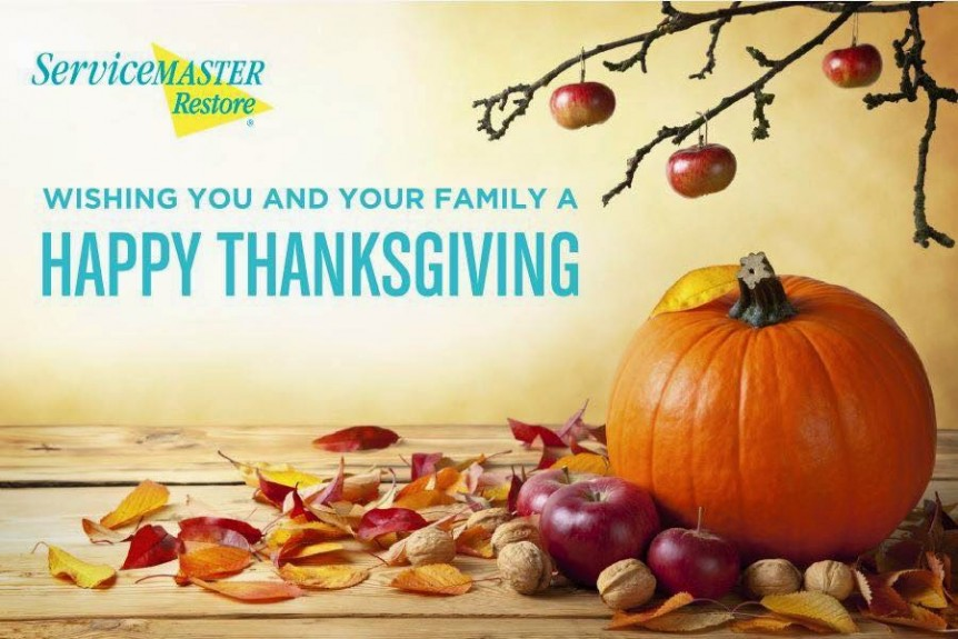 Happy Thanksgiving from ServiceMaster Restore!